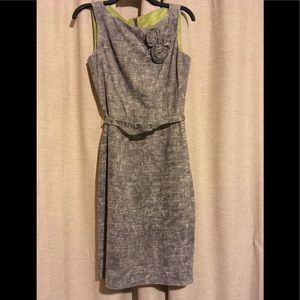 Muse gray dress with flower design